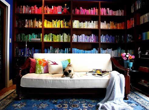 Decoração e livros…